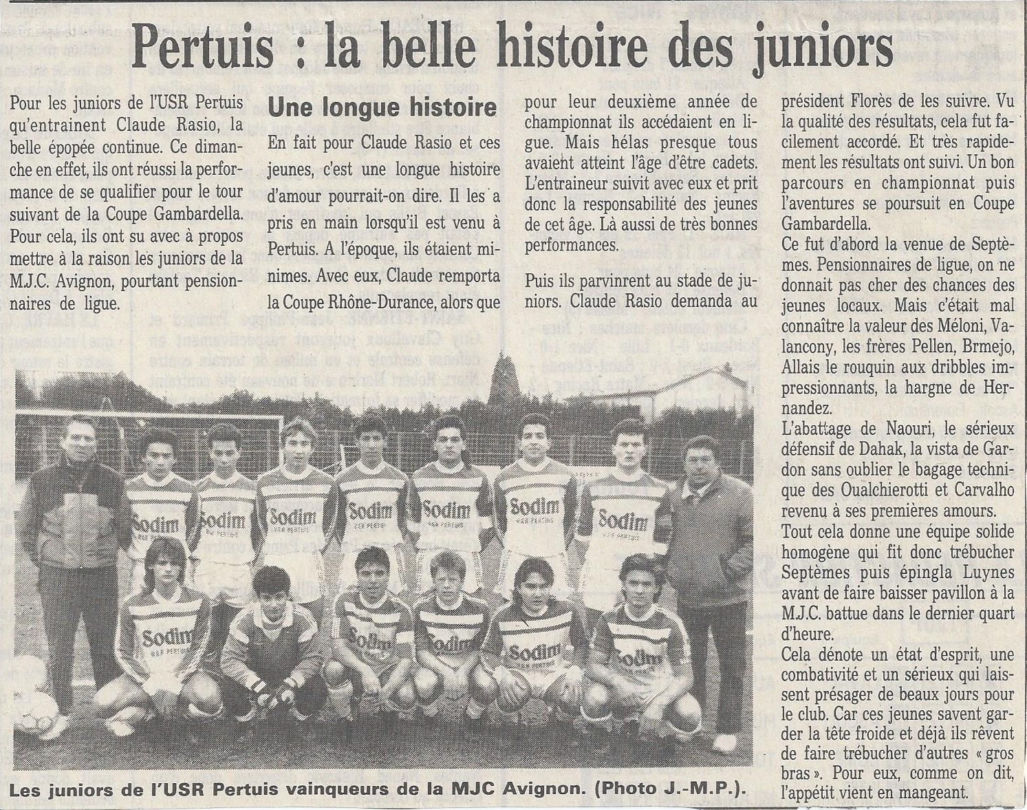 belle hisoire des juniors